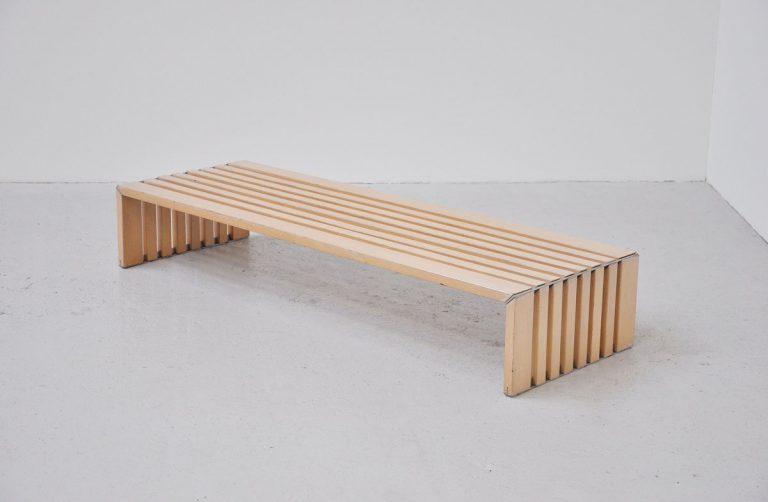 Walter Antonis large slat bench 't Spectrum 1969