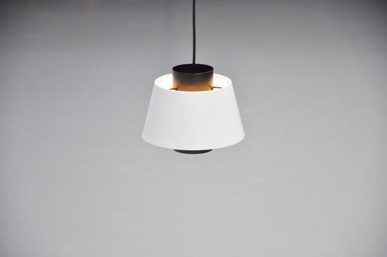 Raak pendant lamps black and white 1960