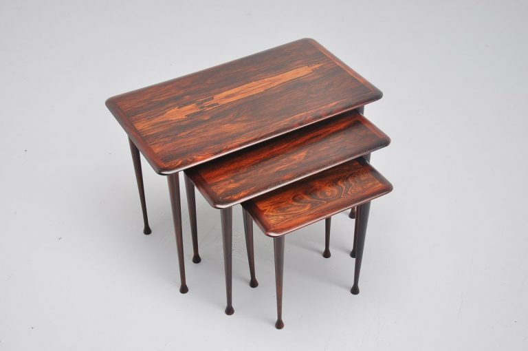 Danish rosewood nesting table set 1960