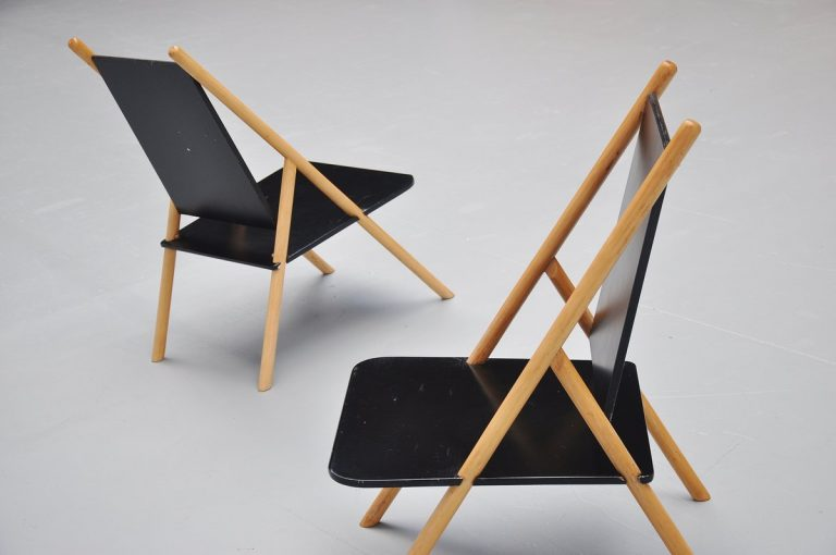 Yrjo Wilherheimo and Rudi Merz lounge chairs Finland 1970
