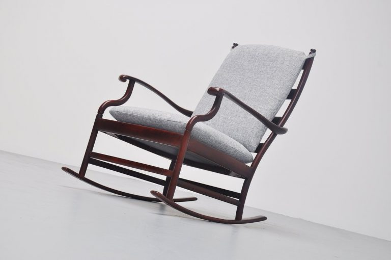 Mahogany Danish rocking chair 1960