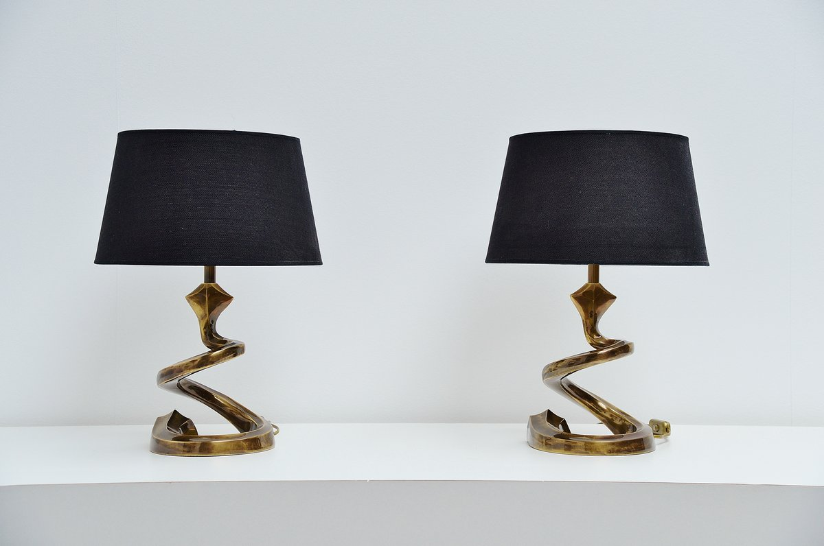 Very Nice Bronze Table Lamps In The Manner Of Pierre