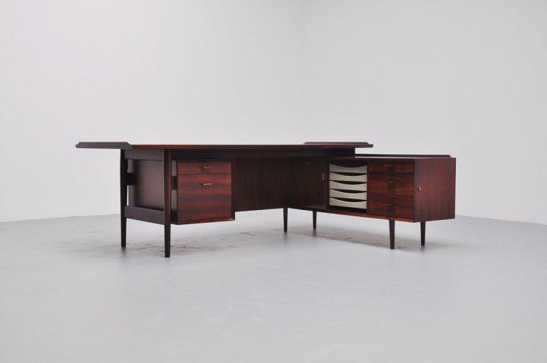 Arne Vodder rosewood conference desk Sibast Mobler Denmark 1960