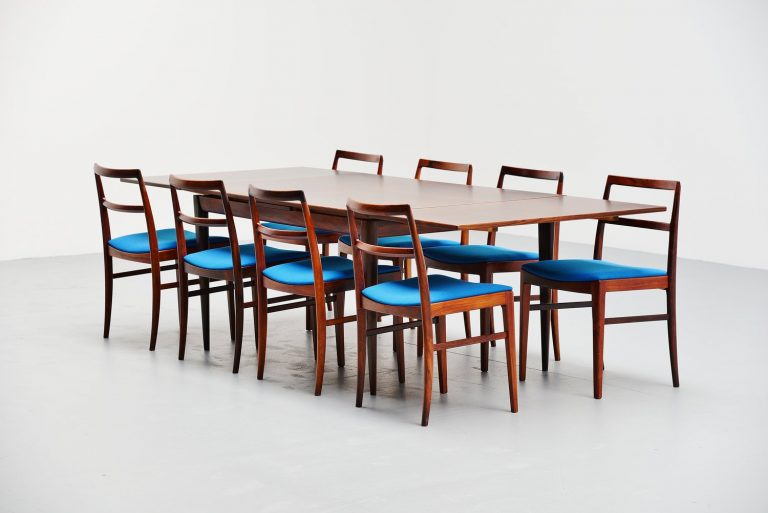 Niels Moller Model #12 rosewood dining table Denmark 1964