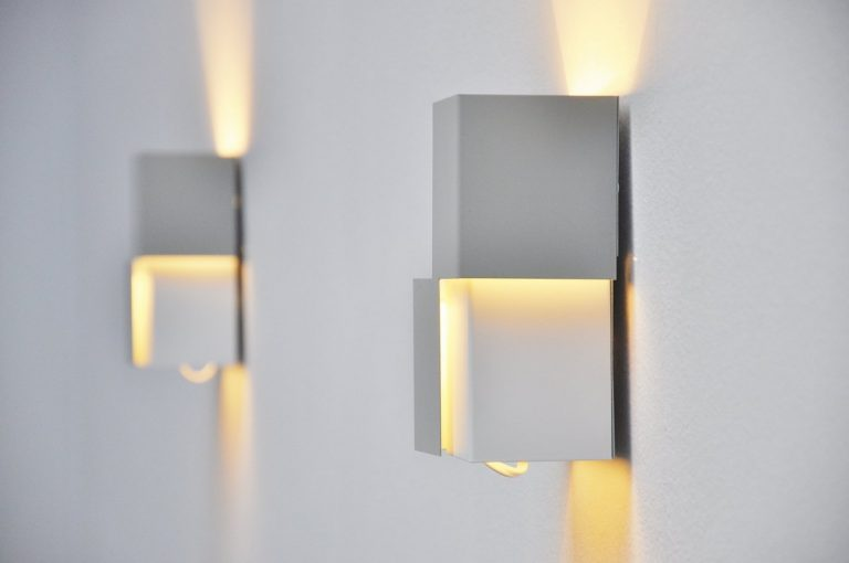Anvia modernist sconces by JJM Hoogervorst 1960