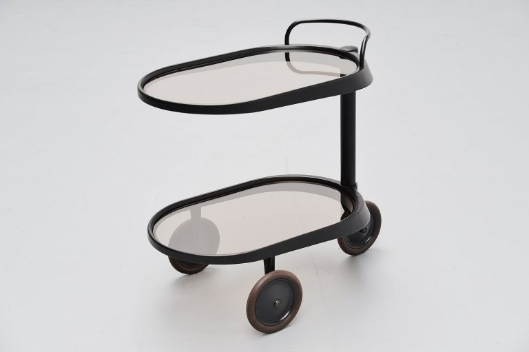 Enzo Mari Emsta bar cart for Alessi Italy 1989
