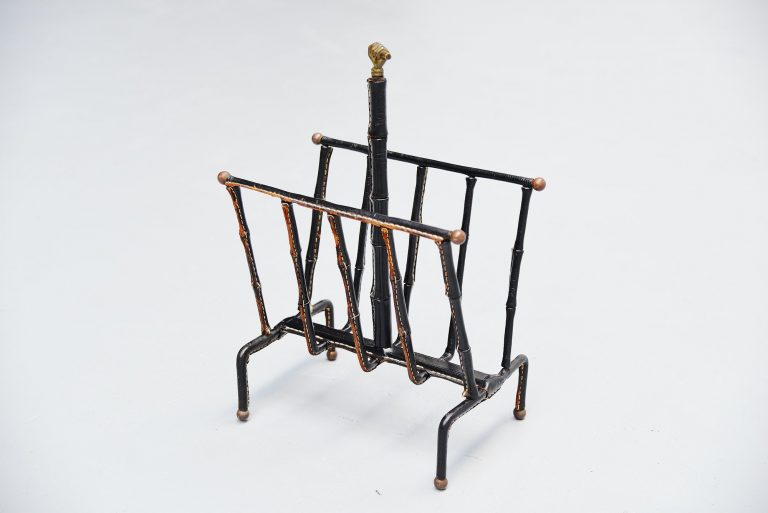 Jacques Adnet magazine rack France 1940