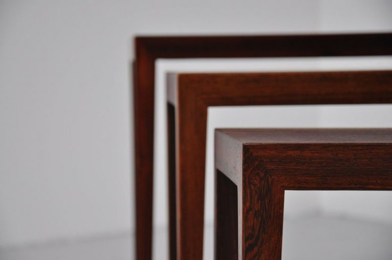 Severin Hansen Haslev nesting tables 1960