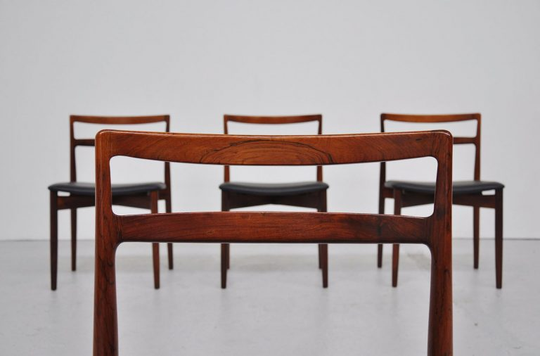 Randers Danish rosewood dining chairs 1960