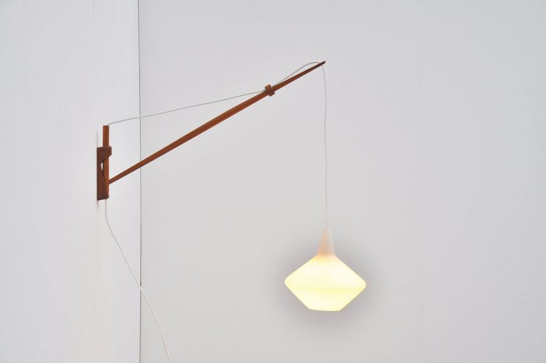 Lisa Johansson Pape arc wall lamp Finland 1954