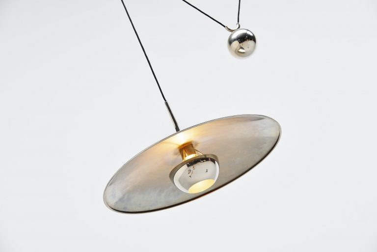 Florian Schulz Onos 55 pendant lamp in chrome Germany 1970