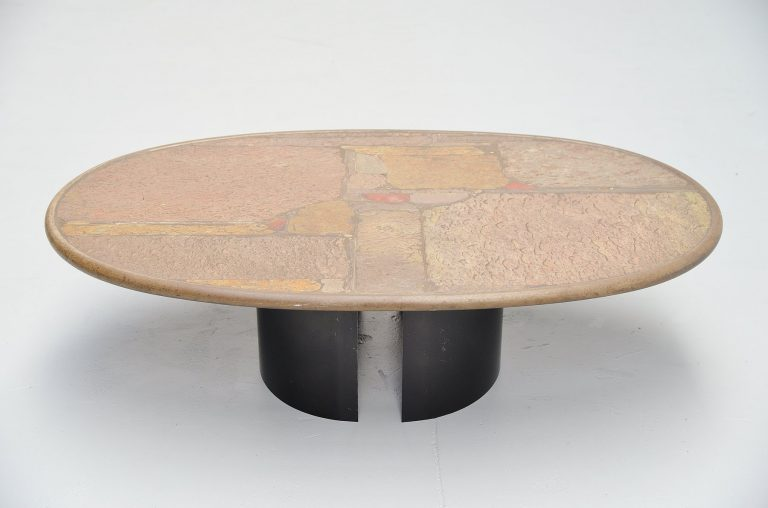Paul Kingma unique oval coffee table Holland 1993