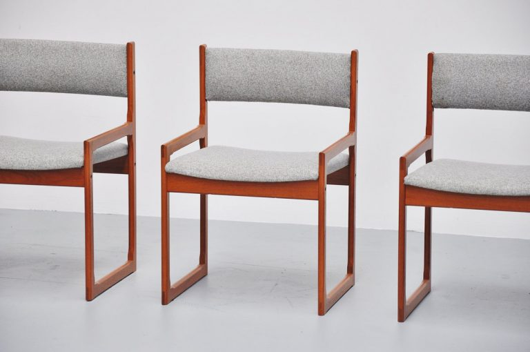 Danish slipper dining chairs in teak 1960