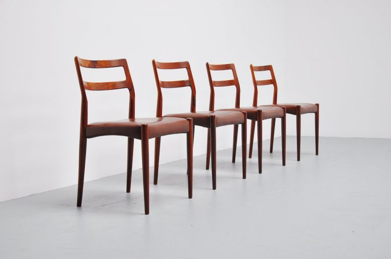 Johannes Andersen rosewood chairs Uldum Mobelfabrik 1960