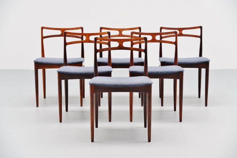 Johannes Andersen rosewood chairs Christian Linneberg 1961