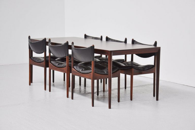 Severin Hansen Haslev rosewood dining table 1960