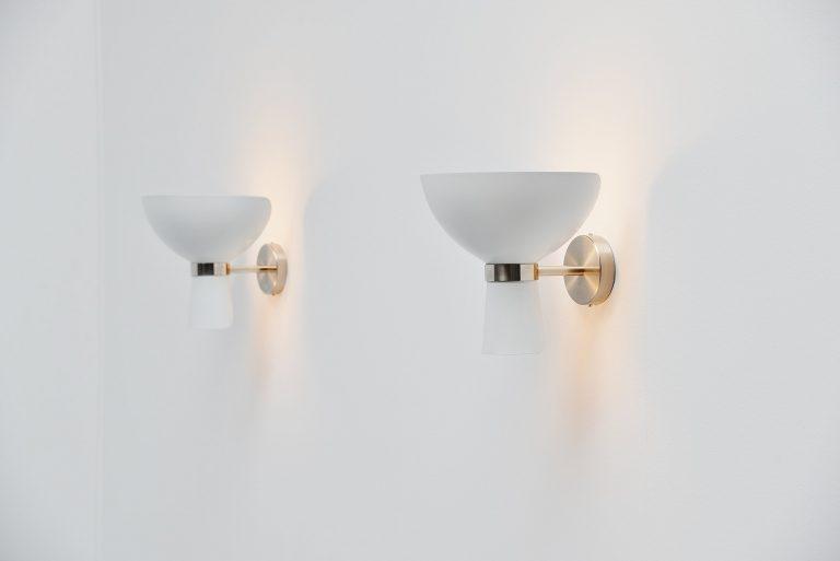 Stilnovo diabolo uplighter wall lamps Italy 1960