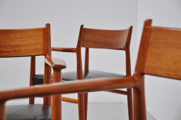 Arne vodder teak Sibast dining chairs 1958