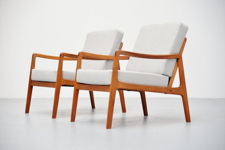 Ole Wanscher easy chairs FD109 France & Son Denmark 1956