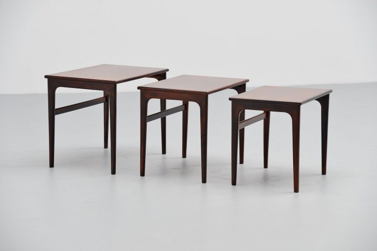 Danish nesting table set in rosewood 1960
