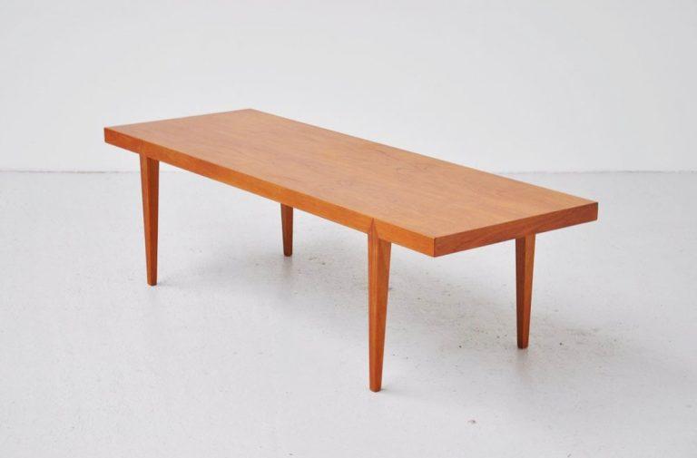 Severin Hansen teak coffee table Haslev 1960