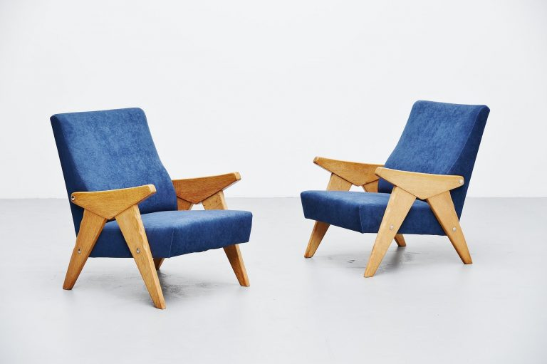 Guillerme et Chambron lounge chairs France 1960