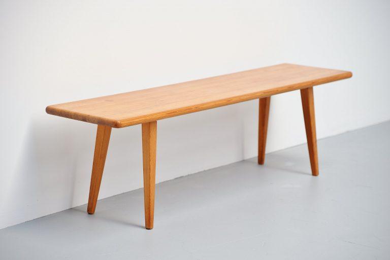 Carl Malmsten pinewood bench Denmark 1960