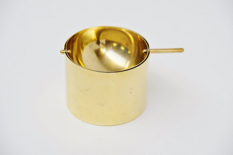 Arne Jacobsen Stelton ashtray in Brass Denmark 1959