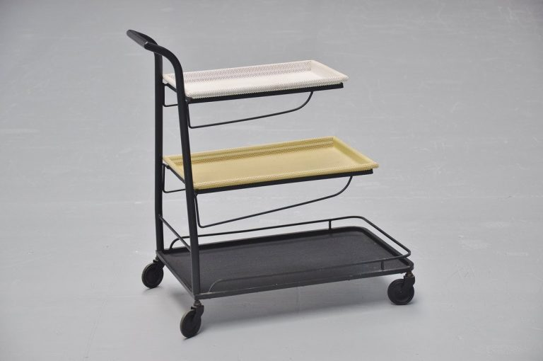 Mathieu Mategot demon serving cart France 1952