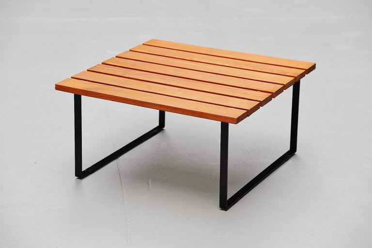 Slat table by Dutch architect Holland 1950