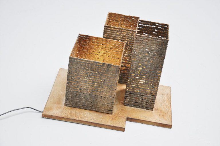 Pia Manu artwork floor lamp Belgium 1970