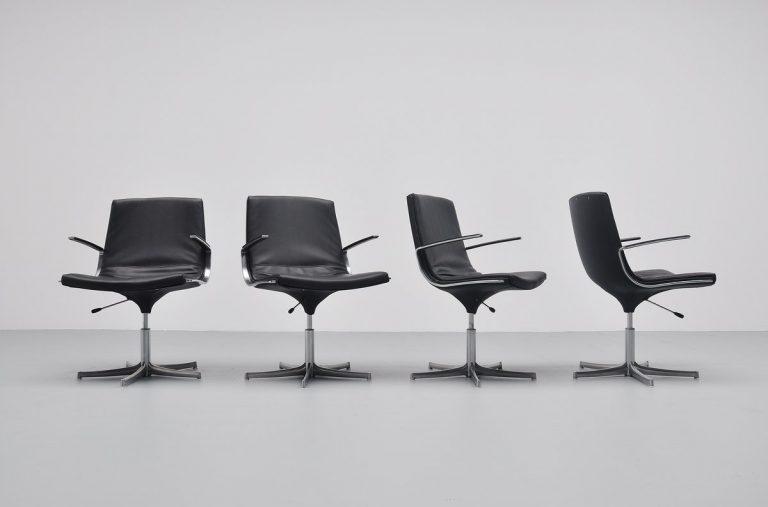 Preben Fabricius & Jorgen Kastholm Logos swivel chair 1964