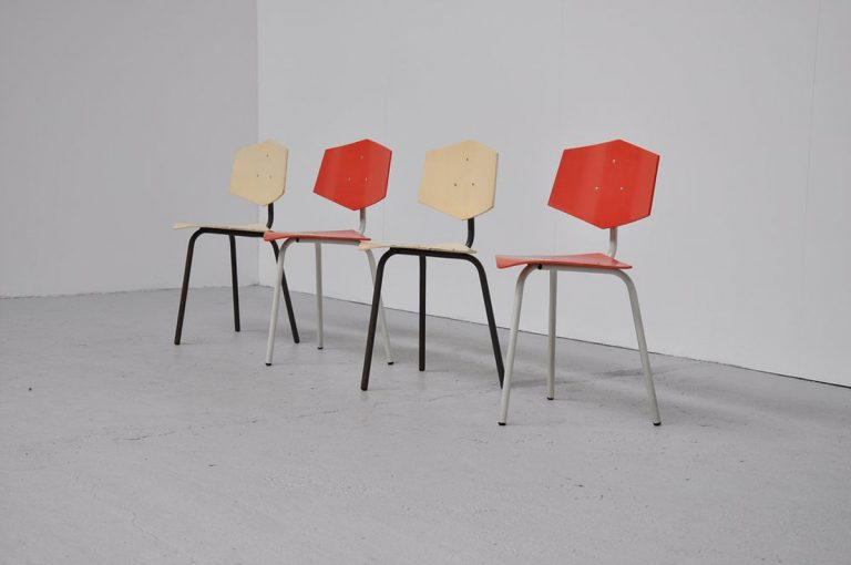 Auping chairs set of 4 1950