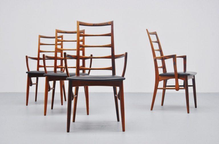 Niels Koefoed rosewood Lis arm chairs Denmark 1961