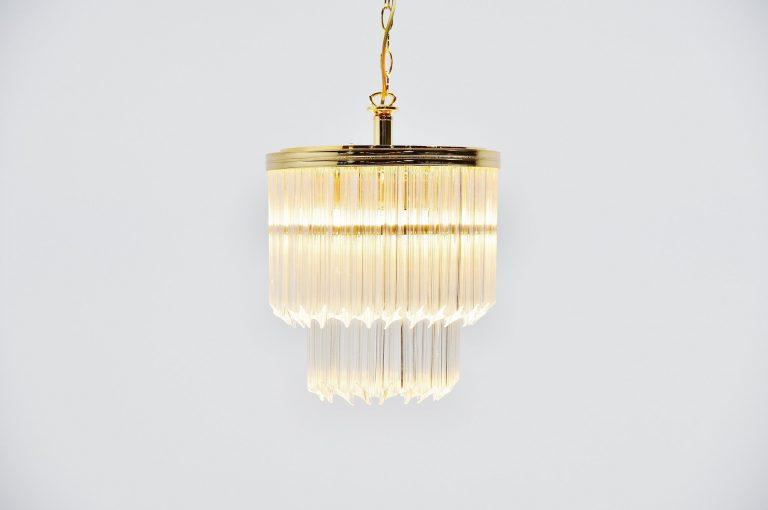 Paolo Venini asta quadrilobo chandelier Italy 1960