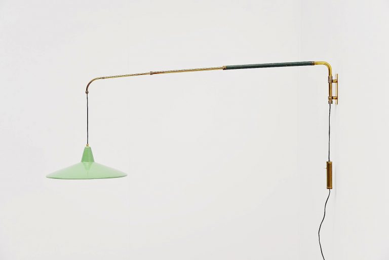 Arredoluce attributed extendable wall lamp Italy 1950
