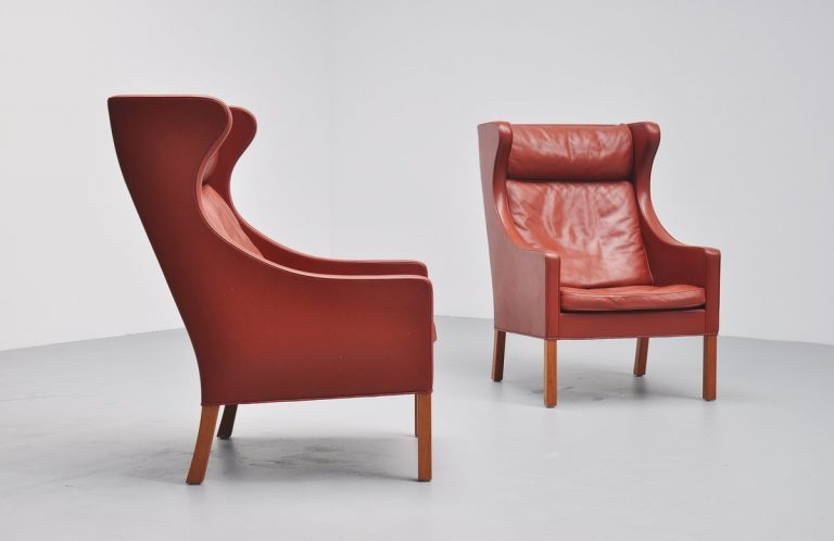 Borge Mogensen 2204 wing back chair Fredericia 1963