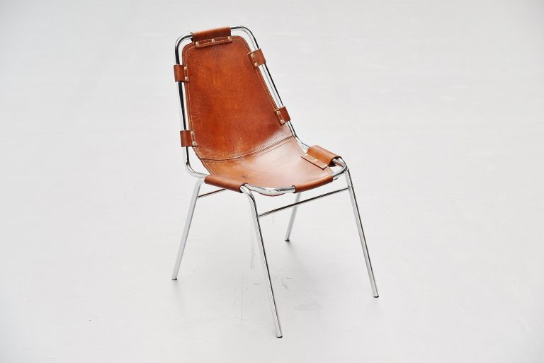 Charlotte Perriand stacking chair Les Arcs France 1960