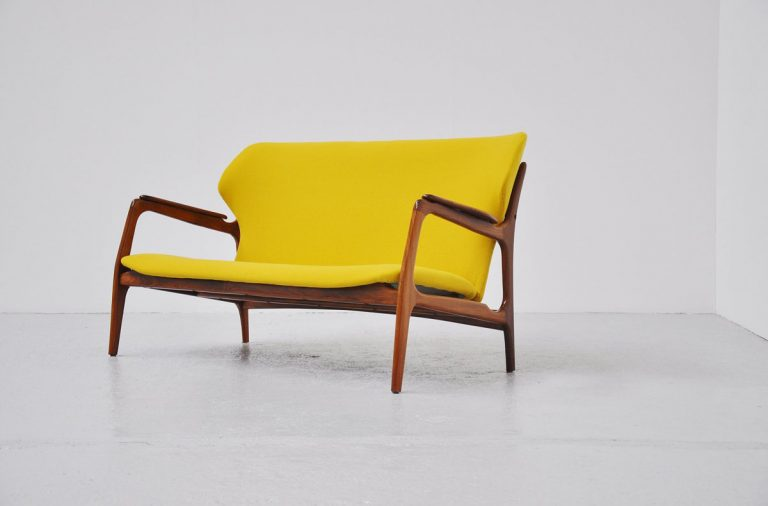 Danish organic lounge sofa teak 1960