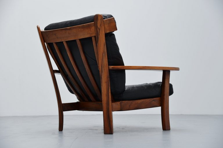 Brazilian Ox lounge chair in rosewood and leather 1960