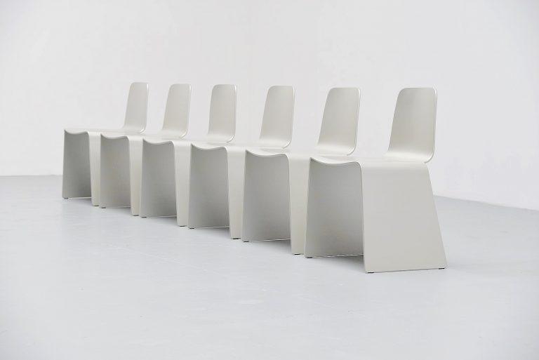 Scott Burton style dining chairs 1990