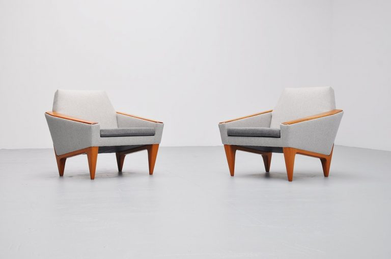 Danish pair of club chairs unknown beauty 1960