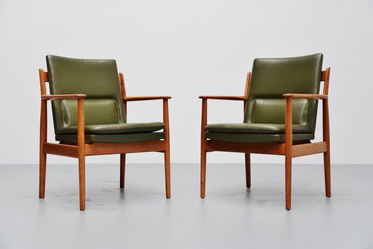 Arne Vodder armchairs teak Sibast Mobler Denmark 1960
