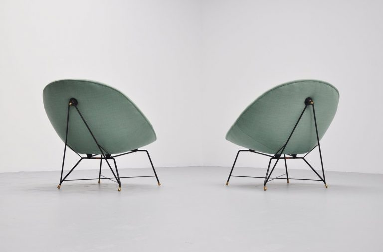 Augusto Bozzi easy chairs for Saporiti Italia 1954