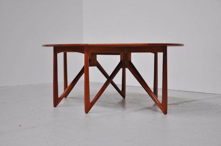 Kurt Ostervig drop leaf dining table 1960