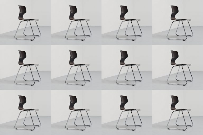 Adam Stegner stacking chairs Flototto Germany 1960