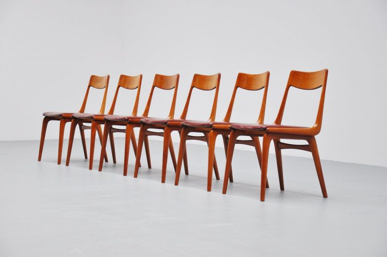 Erik Christensen dining chairs by Slagelse Denmark 1960