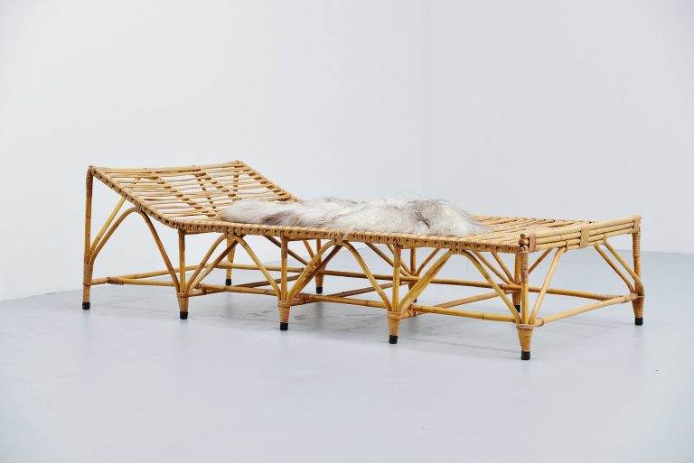 Italian bamboo daybed fantastic shaped Italy 1960