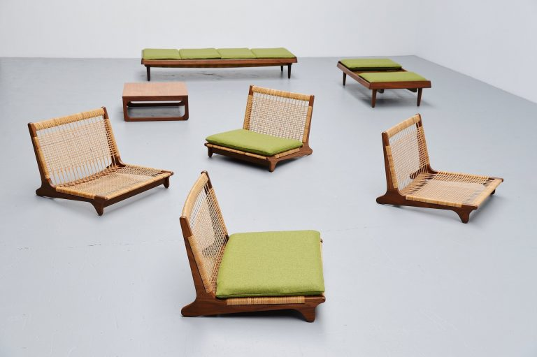 Hans Olsen TV161 seating group Bramin Denmark 1957