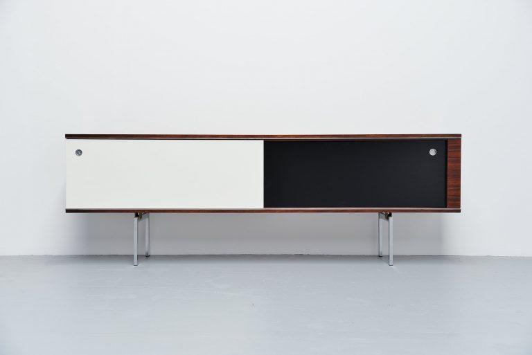N-Line modernist sideboard in rosewood Belgium 1960